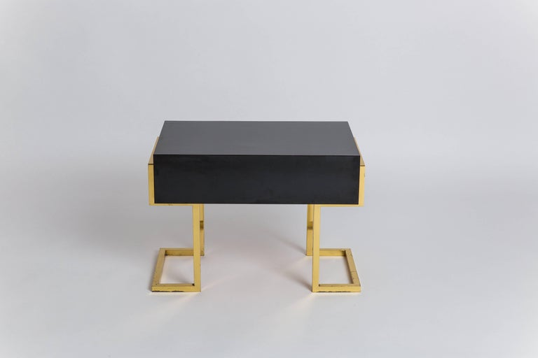 Romeo Rega Pair of Sculptural Bedside or End Tables, Italy, 1970s In Good Condition For Sale In New York, NY
