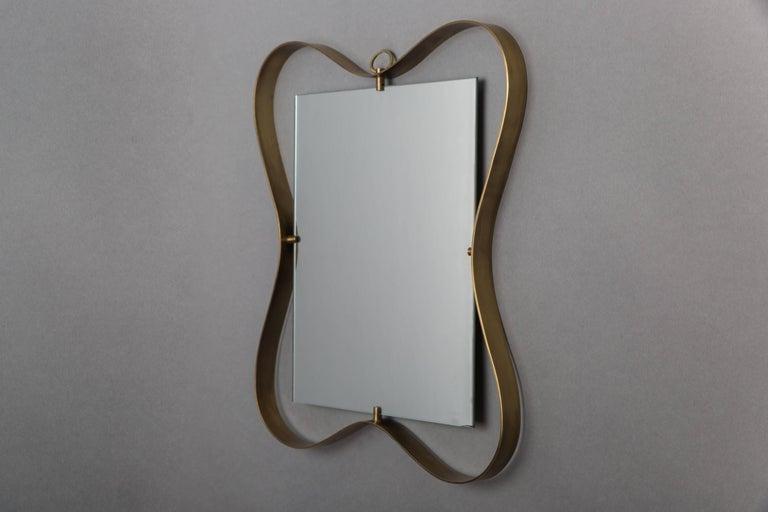 Italian Fontana Arte Pair of Small Mirrors For Sale