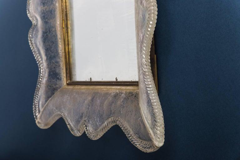 Italian Seguso Vetri d'Arte Rare & Important Smoked Glass Mirror, Italy, 1940s For Sale