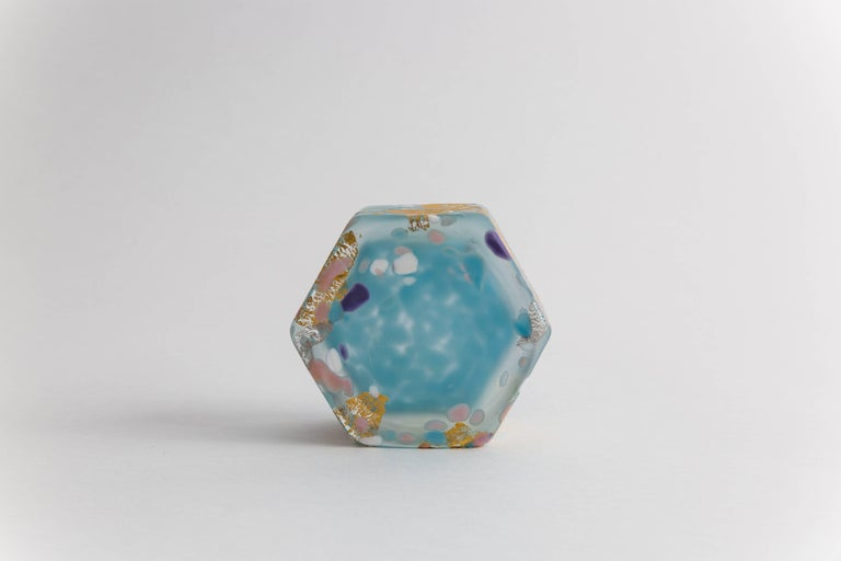 Molded Kyohei Fujita 'Dream' Blown Glass Box For Sale