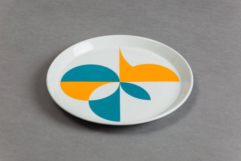 Gio Ponti for Ceramica Franco Pozzi Set of Four Ceramic Plates, Italy circa 1967 3