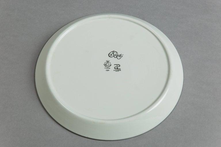 Gio Ponti for Ceramica Franco Pozzi Set of Four Ceramic Plates, Italy circa 1967 6