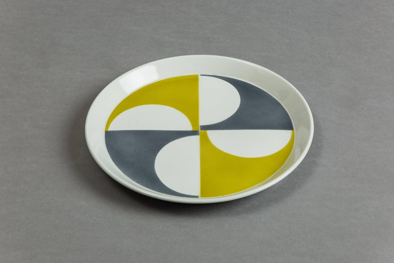Gio Ponti for Ceramica Franco Pozzi Set of Four Ceramic Plates, Italy circa 1967 4