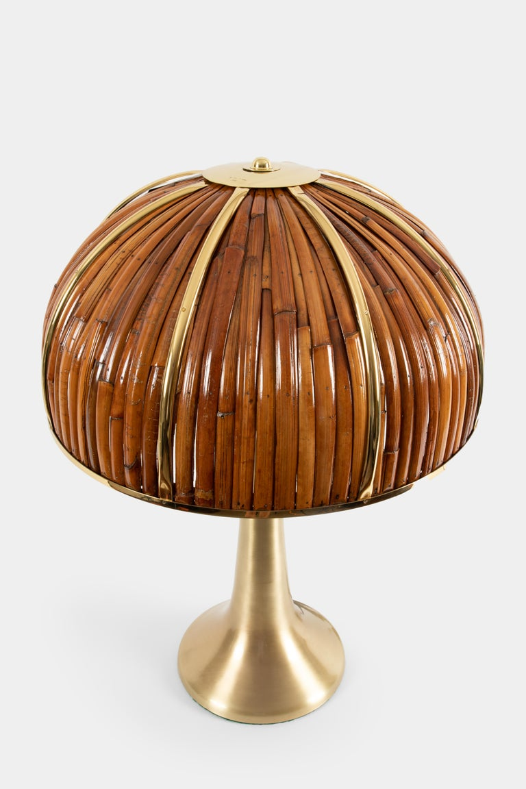 Mid-Century Modern Gabriella Crespi Large 'Fungo' Table Lamp from Rising Sun Series, Italy, 1970s For Sale
