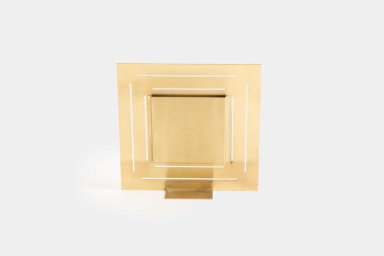 Italian Gabriella Crespi Brass Picture Frame For Sale