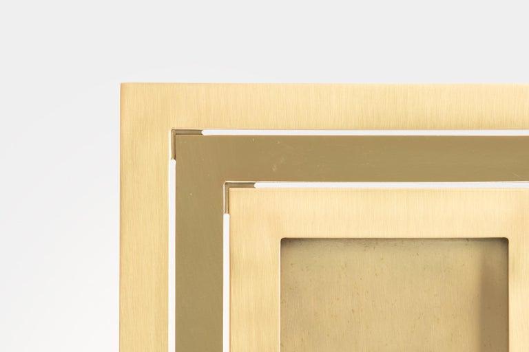Gabriella Crespi Brass Picture Frame In Good Condition For Sale In Chappaqua, NY