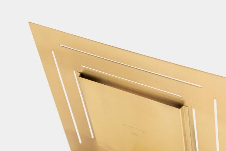 Late 20th Century Gabriella Crespi Brass Picture Frame For Sale