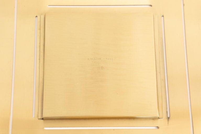 Gabriella Crespi Brass Picture Frame For Sale 1