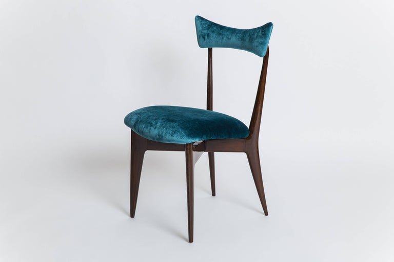 Mid-Century Modern Ico & Luisa Parisi Rare Set of Six Dining Chairs For Sale