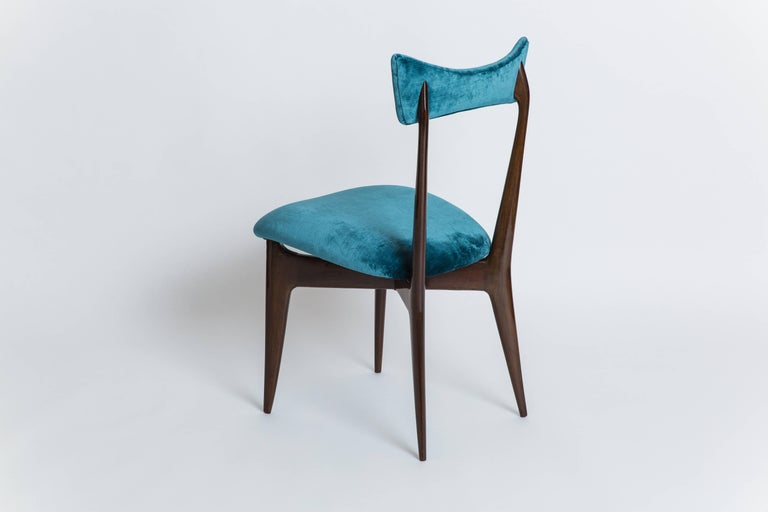 Lacquered Ico & Luisa Parisi Rare Set of Six Dining Chairs For Sale