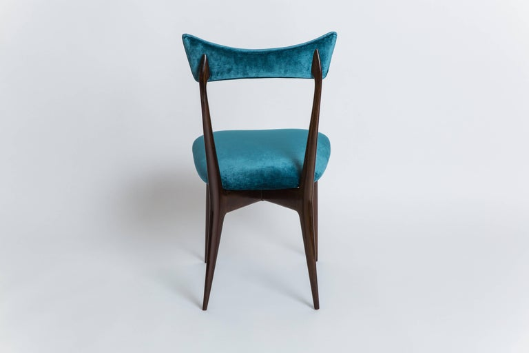 Ico & Luisa Parisi Rare Set of Six Dining Chairs In Good Condition For Sale In New York, NY