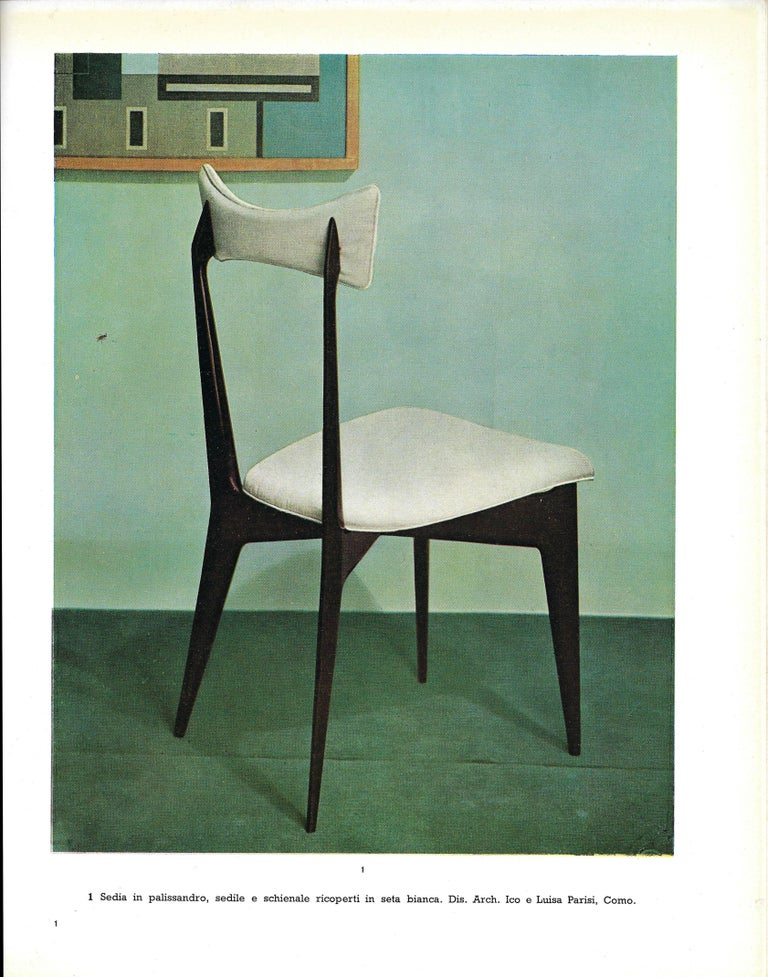Mid-20th Century Ico & Luisa Parisi Rare Set of Six Dining Chairs For Sale
