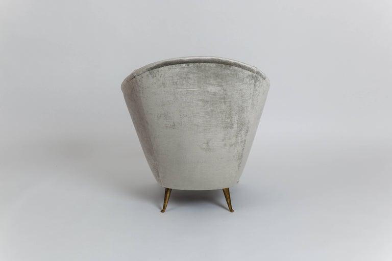 Patinated Gio Ponti Rare Armchair For Sale