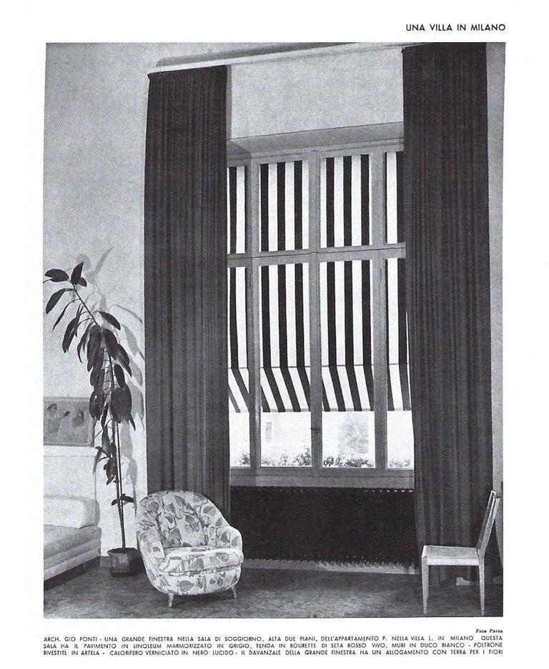 Mid-20th Century Gio Ponti Rare Armchair For Sale
