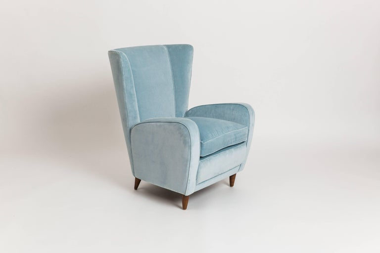 Mid-Century Modern Paolo Buffa Pair of Armchairs from the Hotel Bristol, Merano For Sale