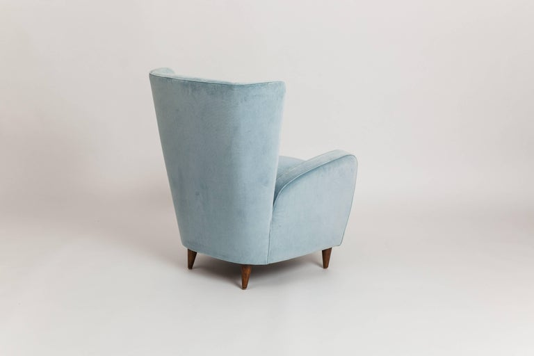 Mid-20th Century Paolo Buffa Pair of Armchairs from the Hotel Bristol, Merano For Sale