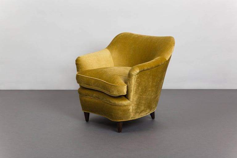 Mid-Century Modern Gio Ponti for Casa E Giardino Pair of Armchairs, Italy, circa 1938 For Sale