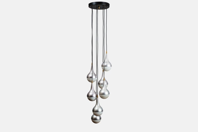 Italian Rare 1960s Stilnovo Chandelier For Sale