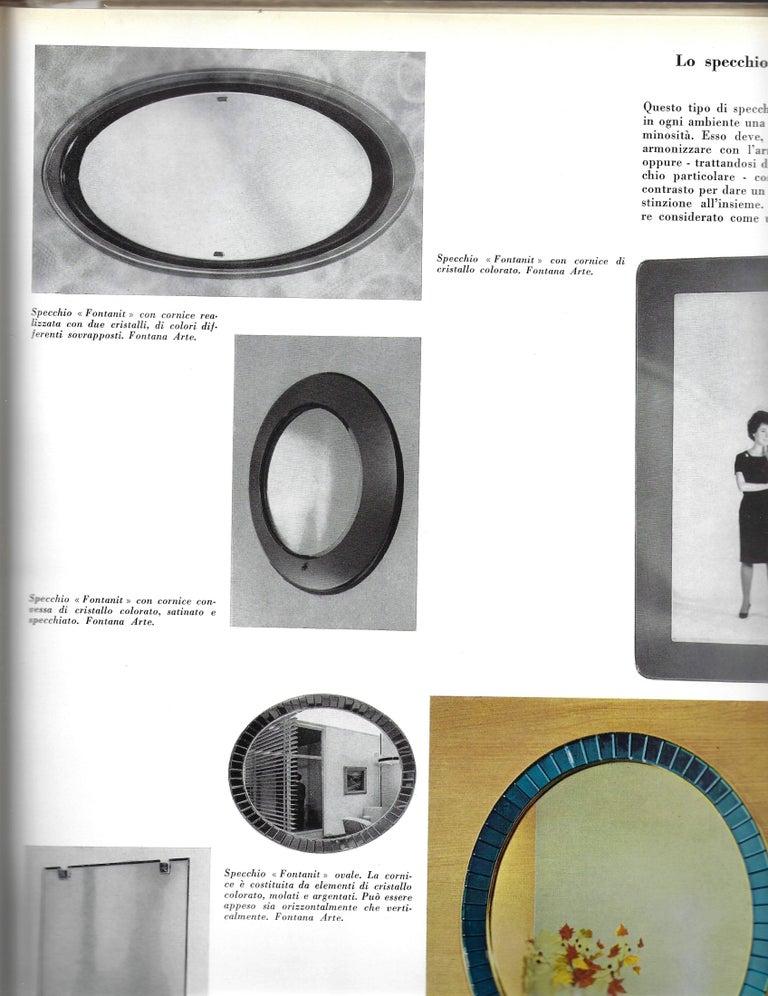Max Ingrand for Fontana Arte Oval Glass Framed Mirror, Model 2046, Italy, 1960s 5
