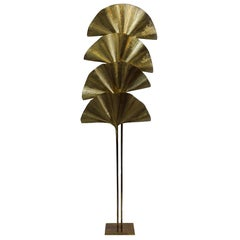 Carlo Giorgi for Bottega Gadda Ginkgo Leaf Floor Lamp, Italy, 1970s