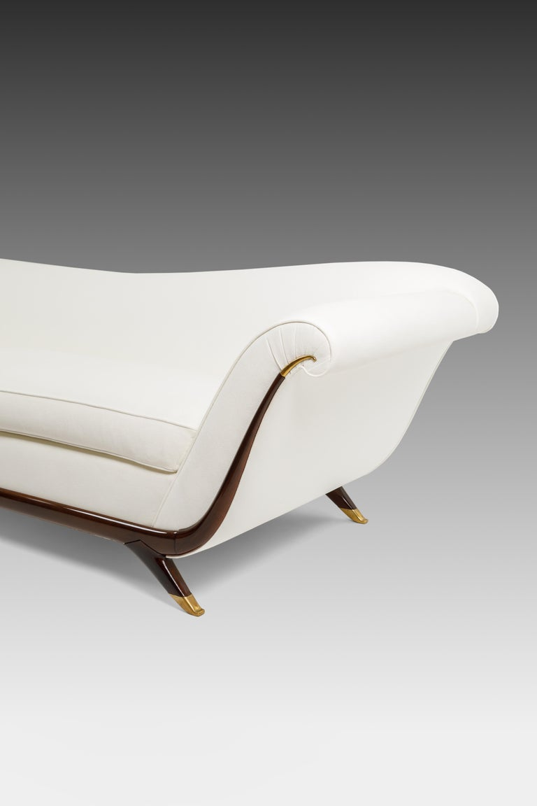 Lacquered Large Sofa Attributed to Guglielmo Ulrich For Sale