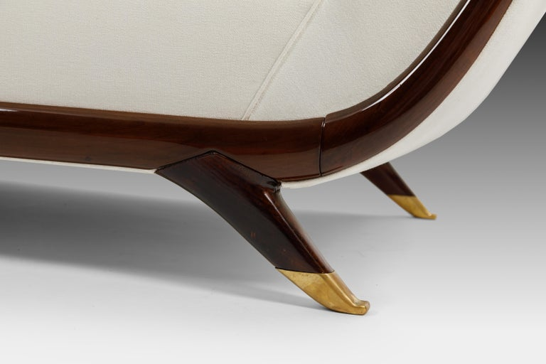 Mid-20th Century Large Sofa Attributed to Guglielmo Ulrich For Sale