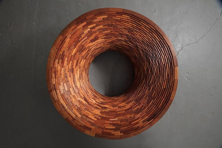 American STACKED Round Coffee Table by Richard Haining, Custom For Sale