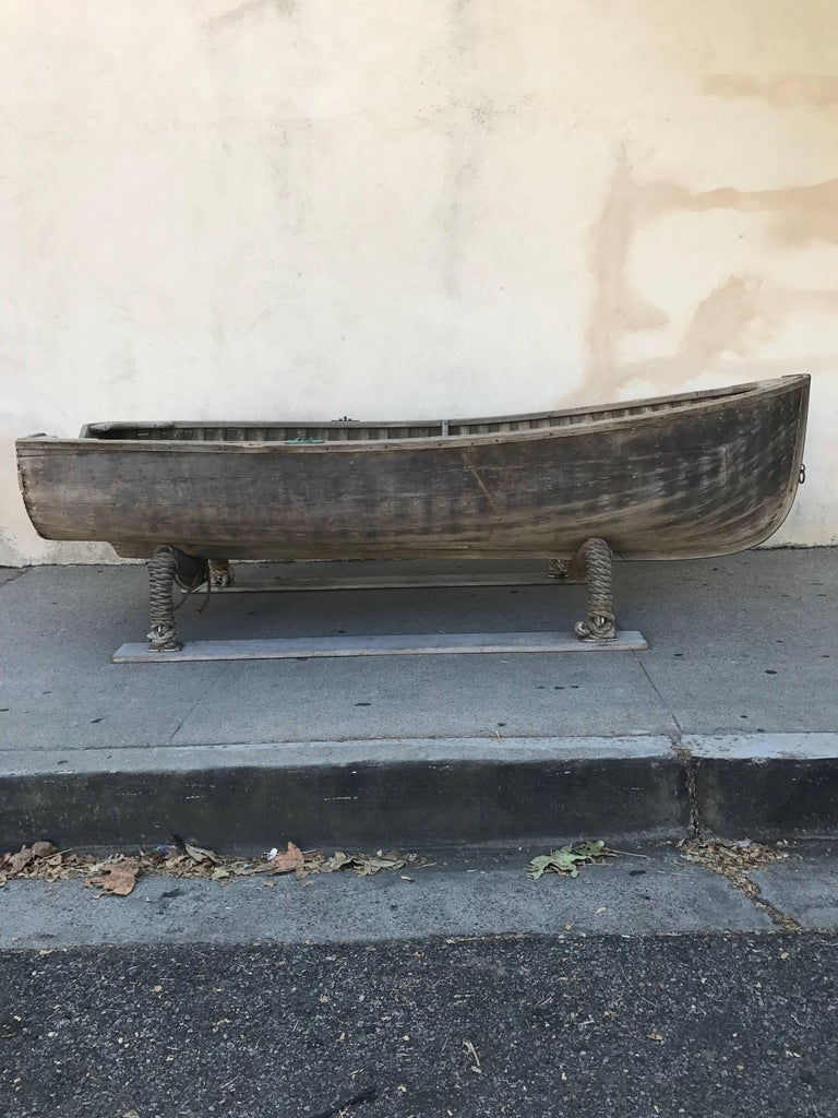Early 20th Century Vintage Wood Row Boat 1