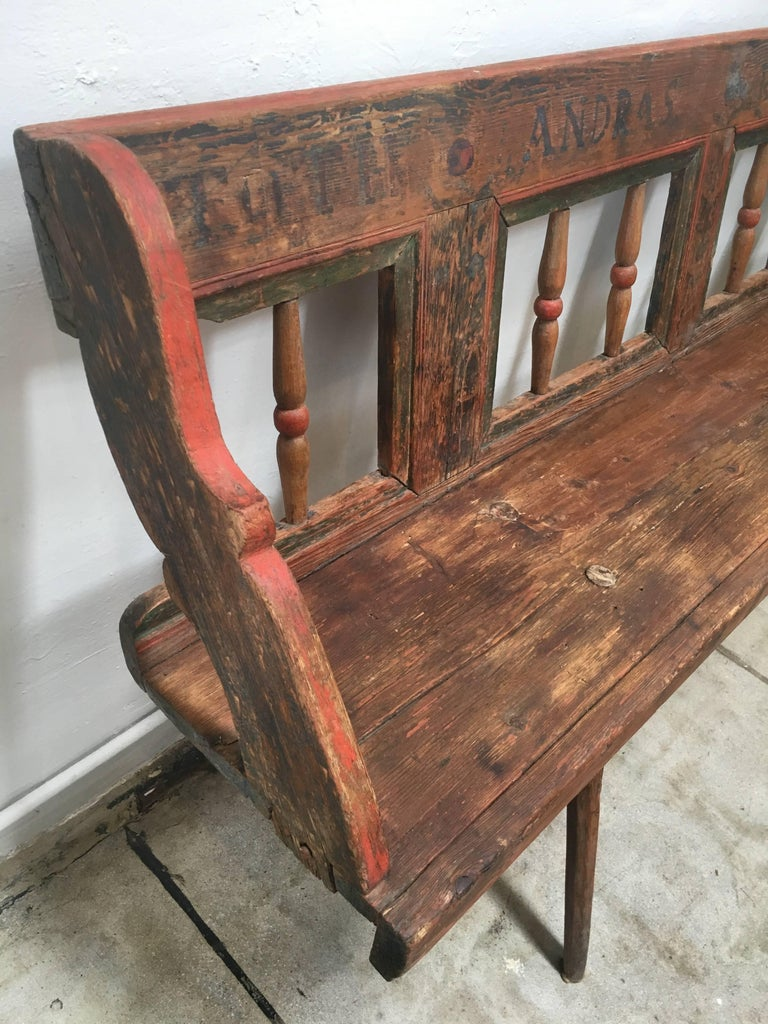 Antique European Bench 1860s For Sale At 1stdibs