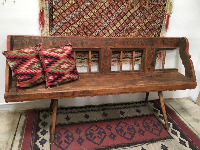Antique European Bench, 1860s For Sale 2