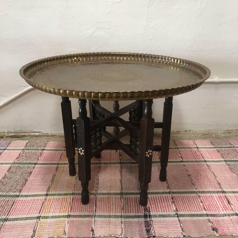 Gong Stand Designs : Vintage moroccan tray table at stdibs