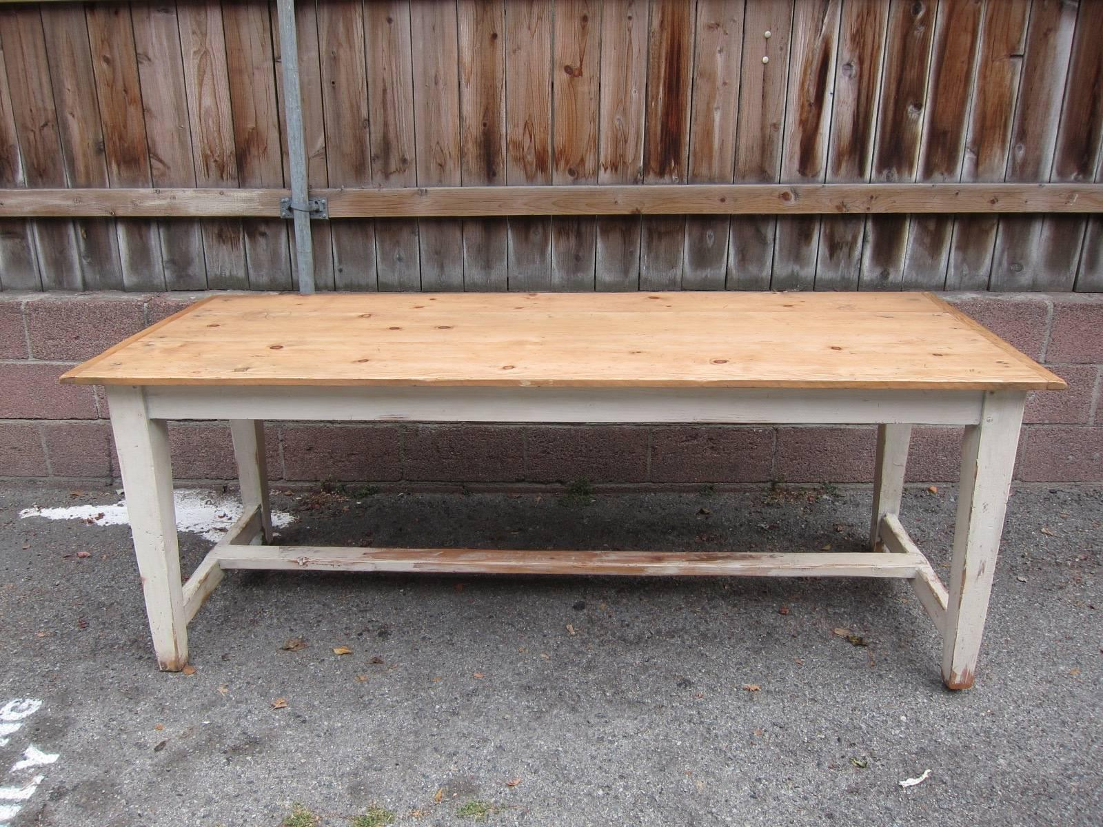 A Gorgeous, Rustic, Yet Refined Vintage Farm Table From France. Very  Stabile And