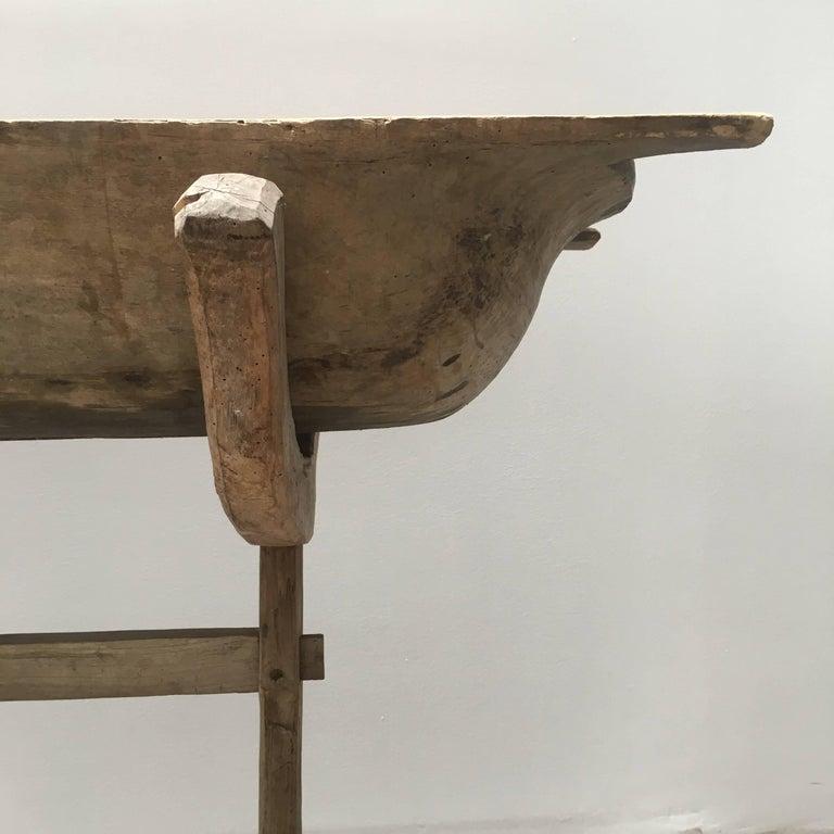 Antique 19th Century European Wash Basin Dough Owl At