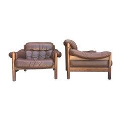 Pair of Göte Möbler Swedish Lounge Chairs