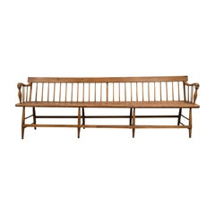 19th Century American Windsor Bench