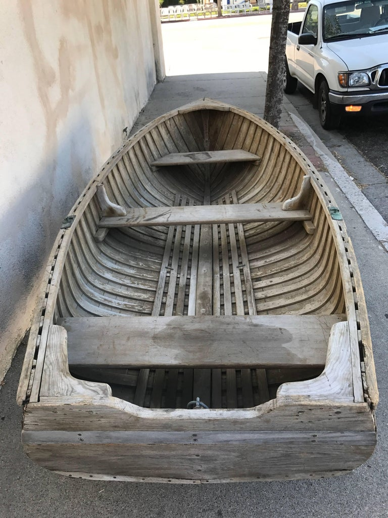 Early 20th Century Vintage Wood Row Boat 3