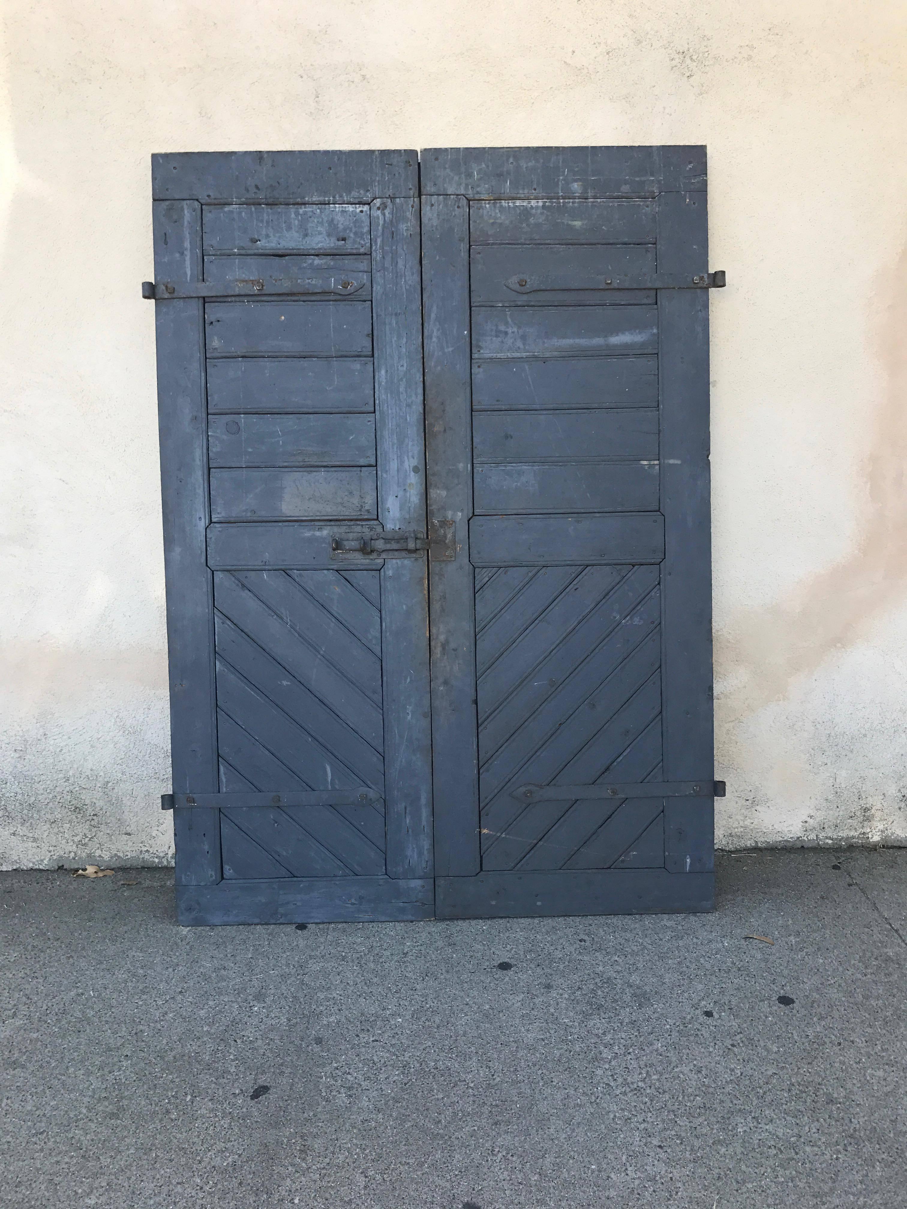 & Pair of Antique European Farm Doors For Sale at 1stdibs
