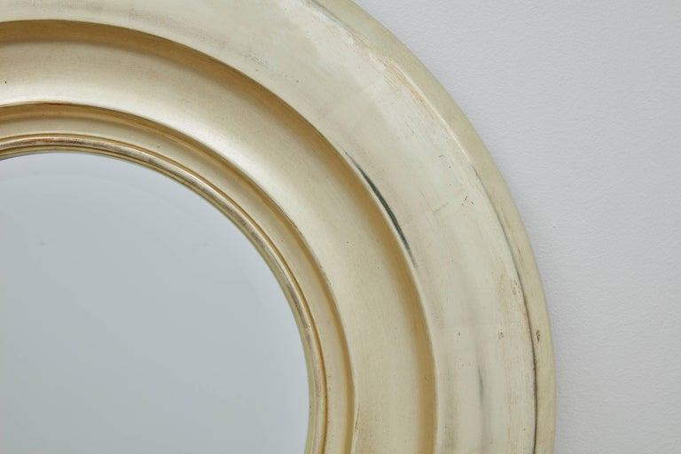 Modern Degas Tondo No. 1 Circular Wall Mirror, Gilded in Pale Gold by Bark Frameworks For Sale