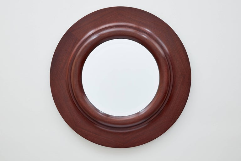 Doric Column Circular Wood Wall Mirror by Bark Frameworks 2
