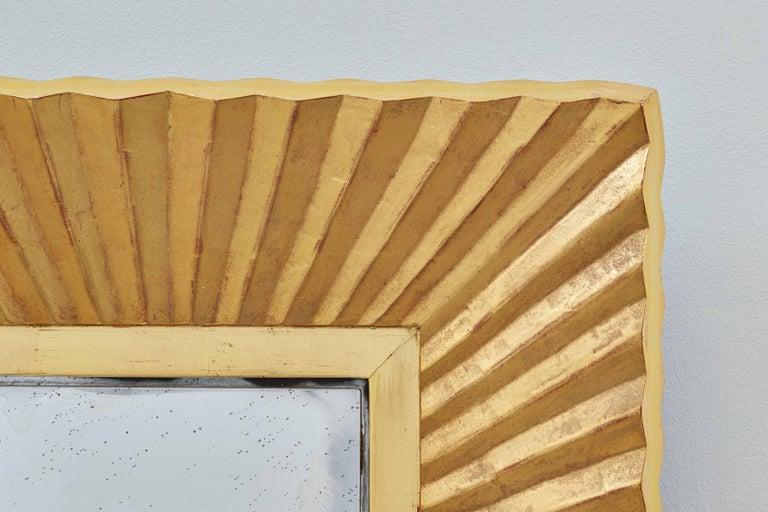 Bark Frameworks 23-Karat Gold Pleated Wall Mirror, Designed by Jared Bark 3