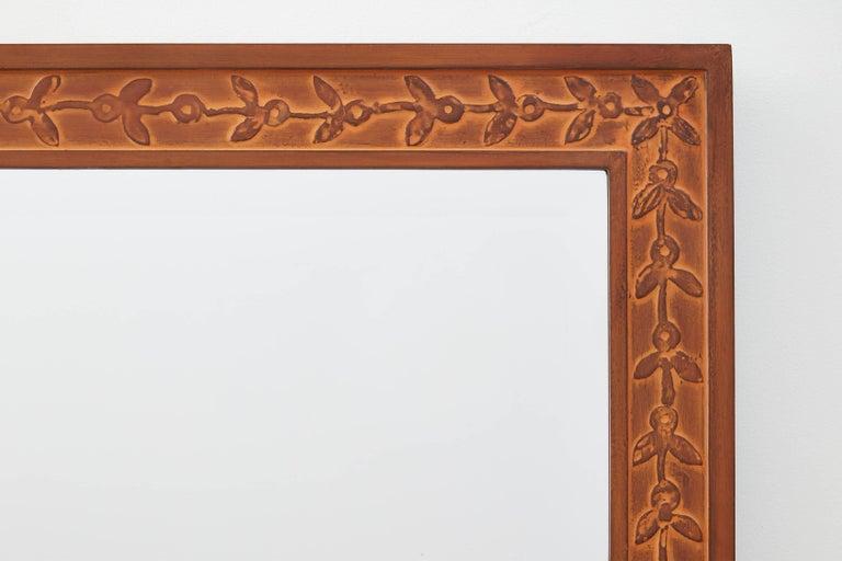 Modern Bark Frameworks Nabi Wall Mirror with Custom Tile Print from Jozsef Rippl-Ronai For Sale