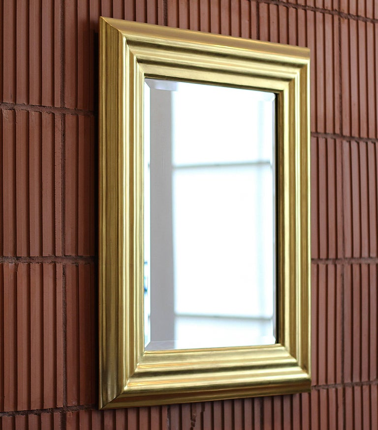 American Degas No. 6 Ripple Wall Mirror, Gilded in 23kt Yellow Gold, by Bark Frameworks For Sale