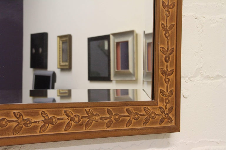 Hand-Crafted Bark Frameworks Nabi Wall Mirror with Custom Tile Print from Jozsef Rippl-Ronai For Sale