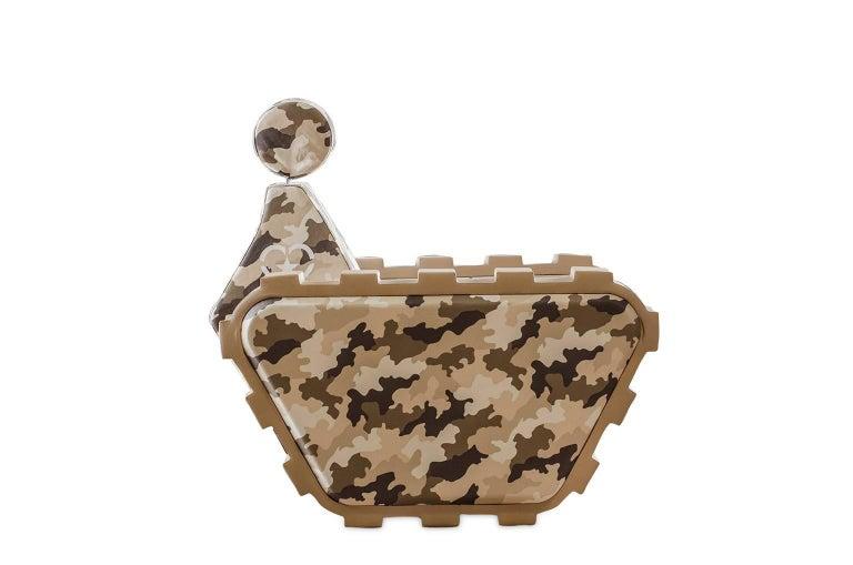 "Armchair ""Armychair Col"" Handcrafted Polyurethane Foam Camo Desert 3"