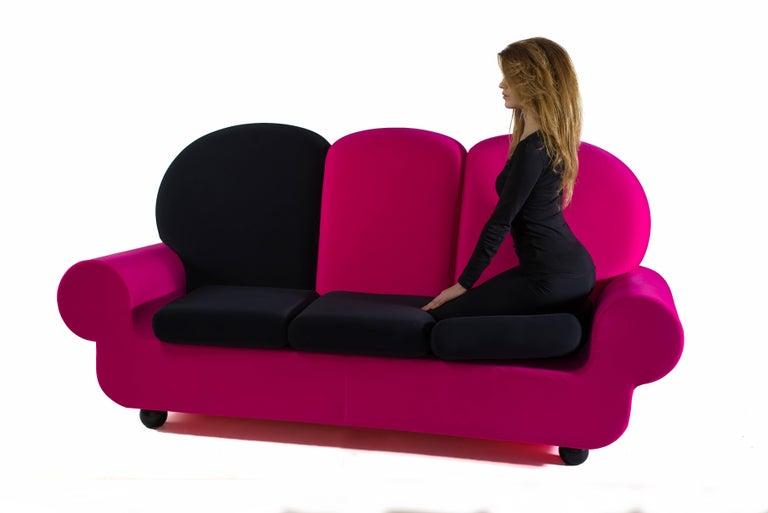 """Italian Sofa 3 seats """"Papi Colors"""" the Most Customizable Sofa For Sale"""