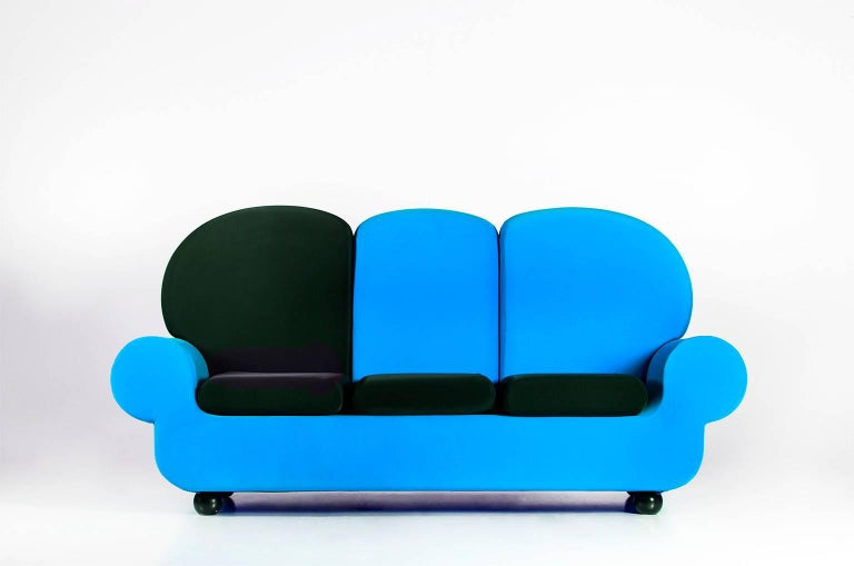 """Hand-Crafted Sofa 3 seats """"Papi Colors"""" the Most Customizable Sofa For Sale"""