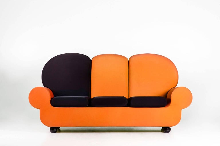 """Sofa 3 seats """"Papi Colors"""" the Most Customizable Sofa In Excellent Condition For Sale In Balangero, IT"""