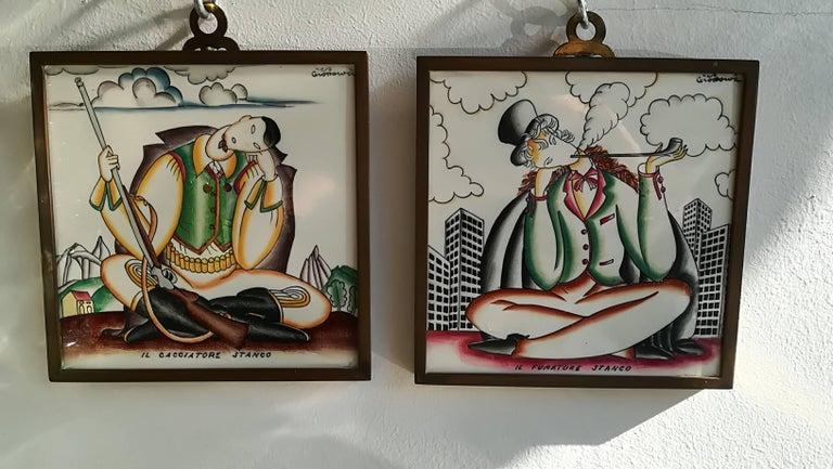 Giò Ponti, 1930, Ceramic Wall Tiles For Sale 2