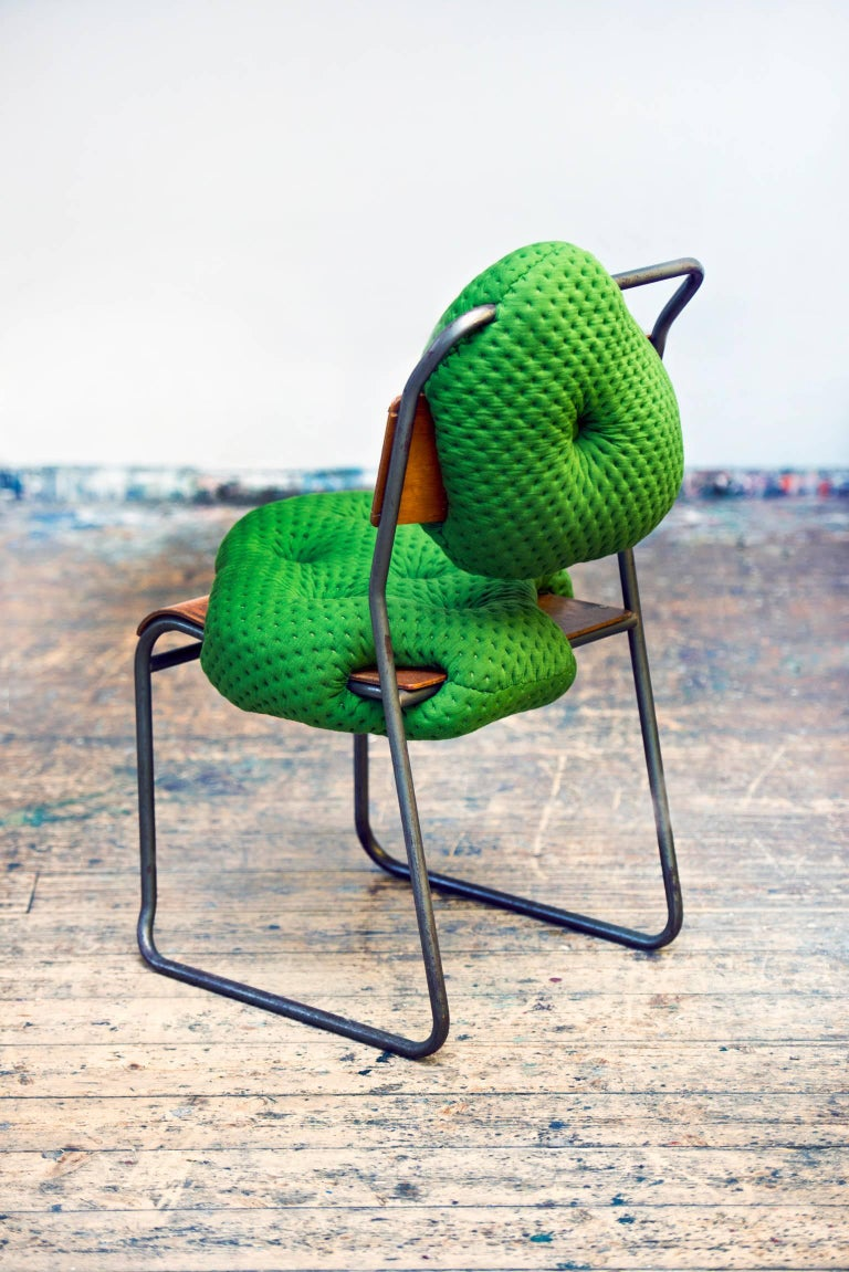 The Hi!breed collection continues to evolve from the bringing together of vintage furniture frames and fleshy biomorphic upholstery. The chairs are hand-sculpted and stitched, which is why every chair in the collection has its own personality. These