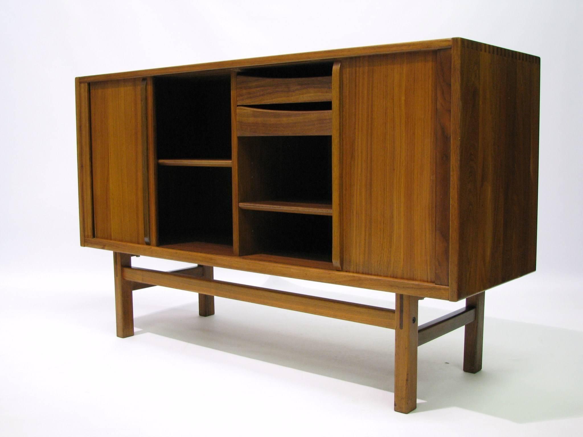 Teak Sideboard Designed By Nils Jönsson For The Swedish Firm Troeds Bjärnum  In The 1960s.